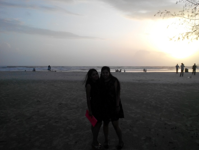 goa varca beach sunset