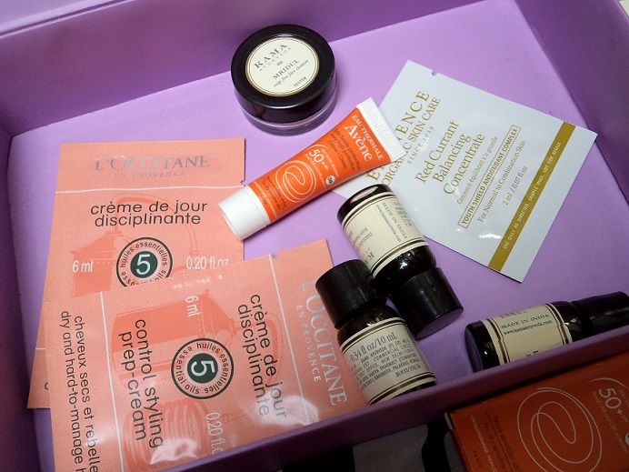 myenvybox july 2014 beauty samples