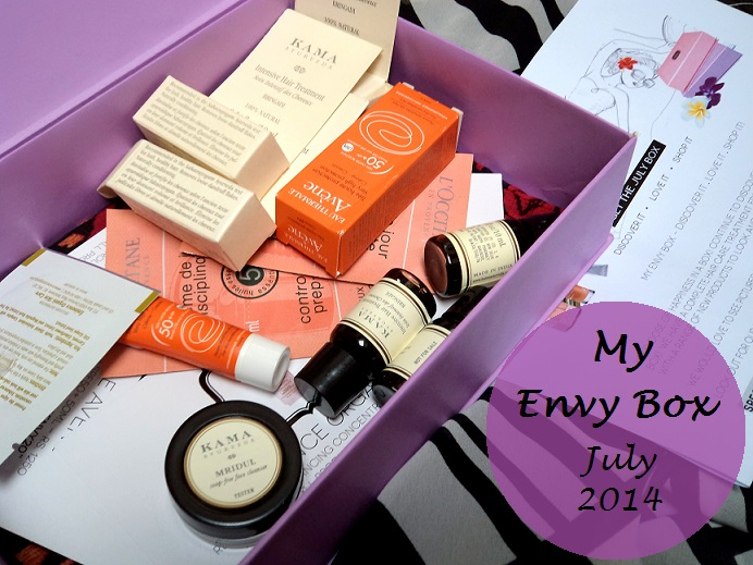 myenvybox july 2014 review unboxing