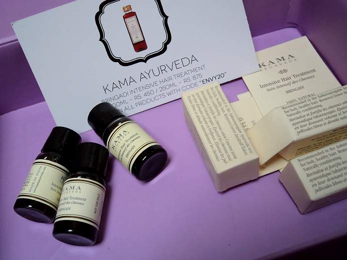 myenvybox july samples kama intensive hair treatment