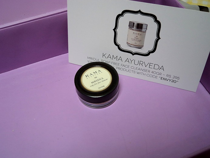 myenvybox july samples kama mridul soap free cleanser