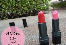 Avon Ultra Color Matte Lipsticks lily and garnet reviews swatches blog