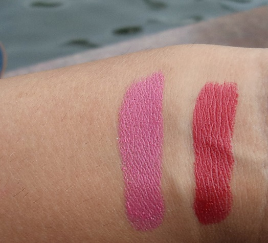 Avon Ultra Color Matte Lipsticks lily and garnet reviews swatches
