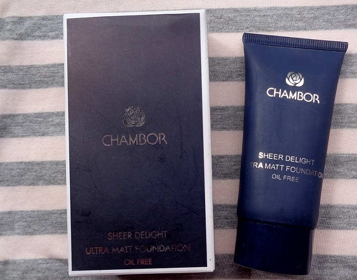 Chambor Sheer Delight Ultra Matt Oil Free Foundation review swatches blog