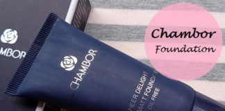 Chambor Sheer Delight Ultra Matt Oil Free Foundation review swatches india