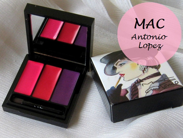 MAC Antonio Lopez 3 Lips Fuchsia Palette Review Swatches blog