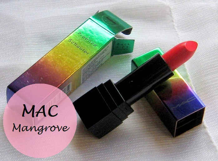 MAC Mangrove Proenza Schouler Lipstick Review Swatches india