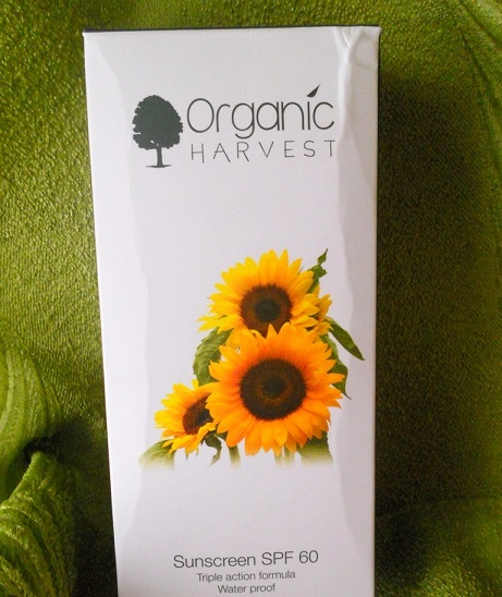 Organic Harvest Sunscreen SPF60 review blog