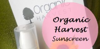 Organic Harvest Sunscreen SPF60 review