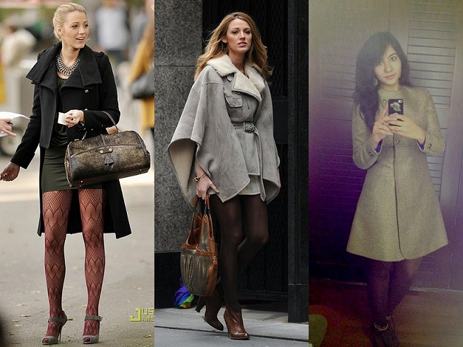 Serena van der Woodsen over coats
