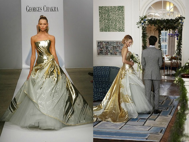 Serena van der Woodsen wedding gown