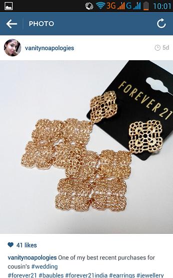 forever21 gold earrings