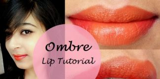 how to apply ombre lipstick step by step