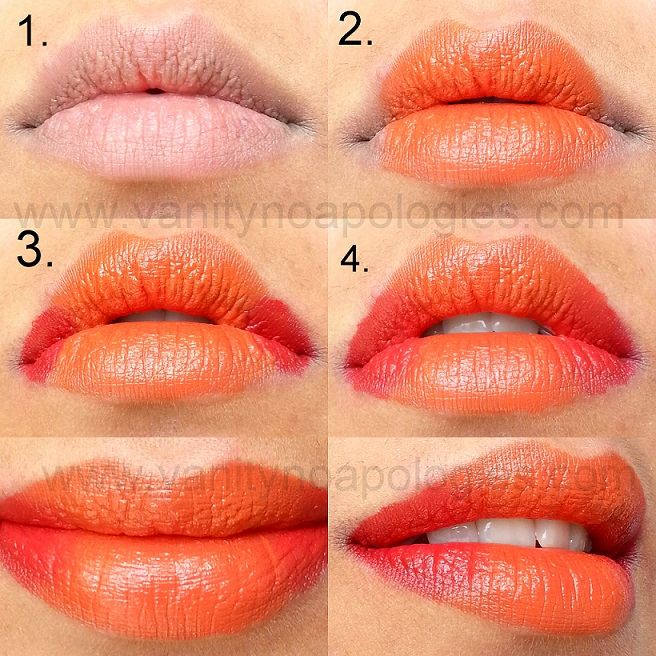 how to ombre gradient lips tutorial