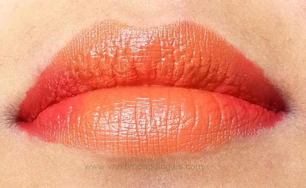 orange red ombre lips products used