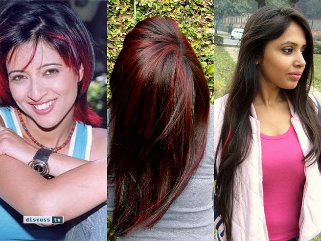 red hair colour ideas for indian brunettes short long hair