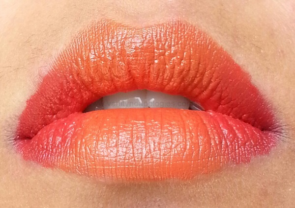 red orange gradient ombre lips