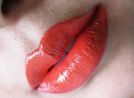 Nars Heat Wave Semi matte Lipstick review lip swatch