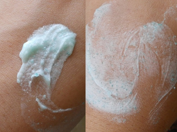 Organic Harvest Exfoliating Face Scrub review swatches