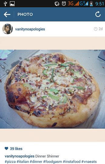 dominos veg singles pizza