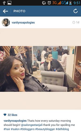getting hair make over at geetanjali salon