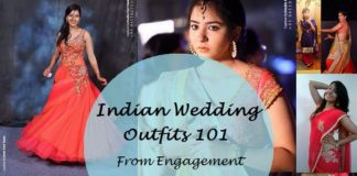 guide to indian wedding outfits and makeup details