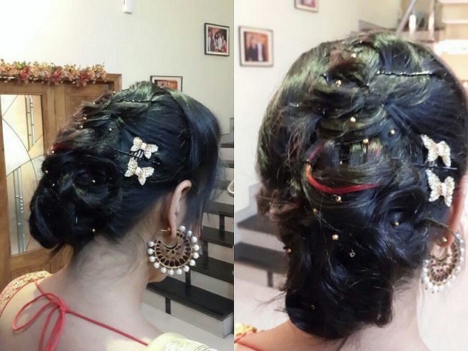indian bridal hair updo buns