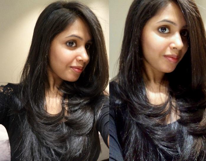 indian girl long volume hair
