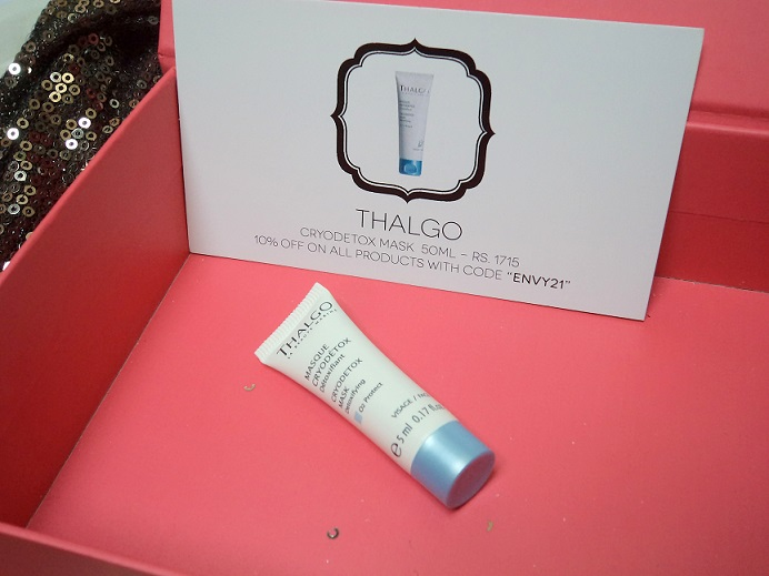my envy box thalgo cryodetox mask review
