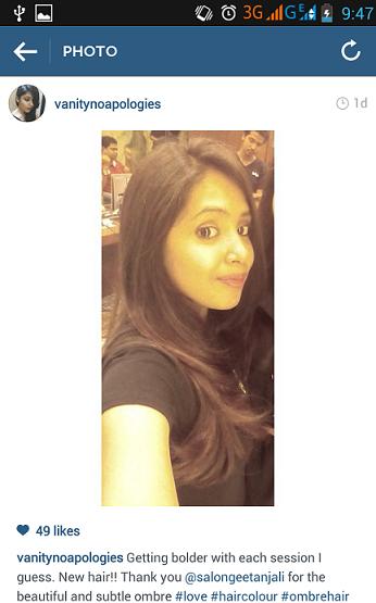 ombre hair brunette indian girl