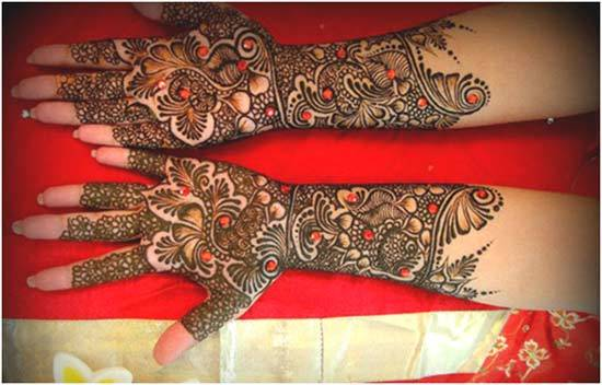 Best Arabic Mehndi Designs colourful 21