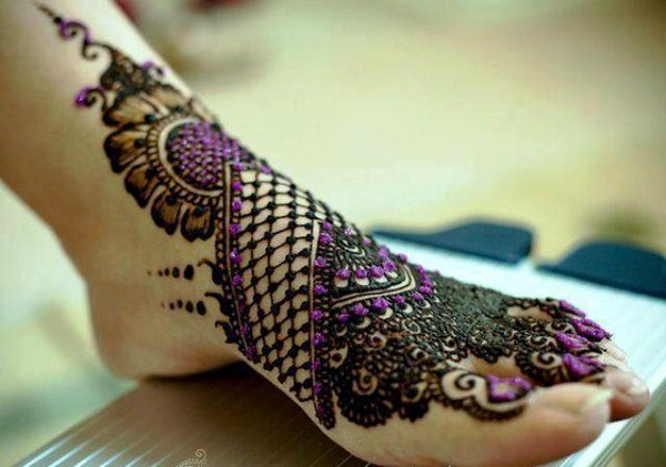 Best Arabic Mehndi Designs feet bridal 10