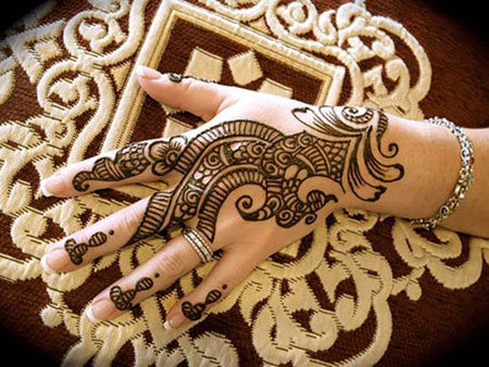 Best Arabic Mehndi Designs for back hands 9