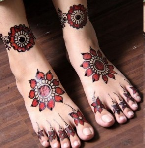 Best Arabic Mehndi Designs for feet 6
