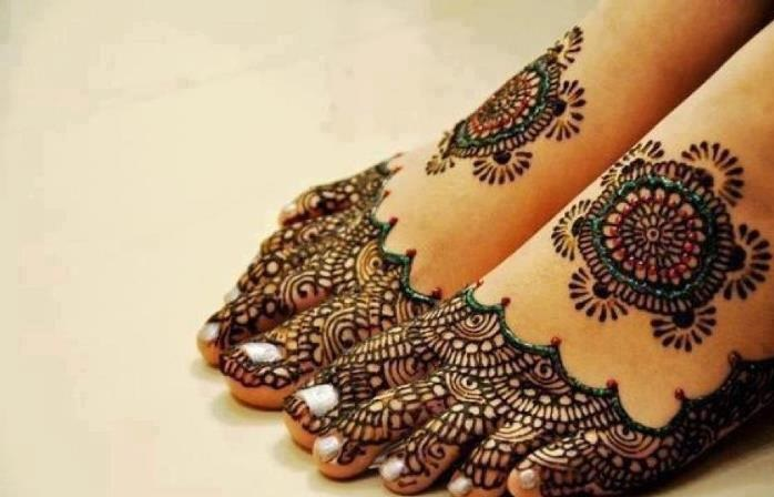 Best Arabic Mehndi Designs for feet 7 2014