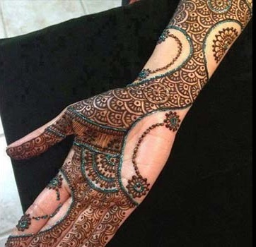 Best Arabic Mehndi Designs for full hands 3