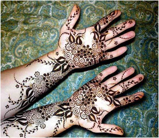 Best Arabic Mehndi Designs for hands easy 22
