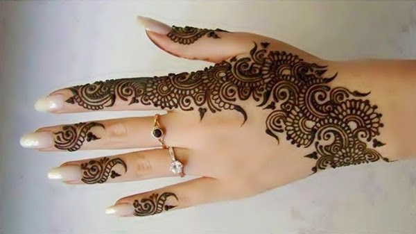 Best Arabic Mehndi Designs hand back 11