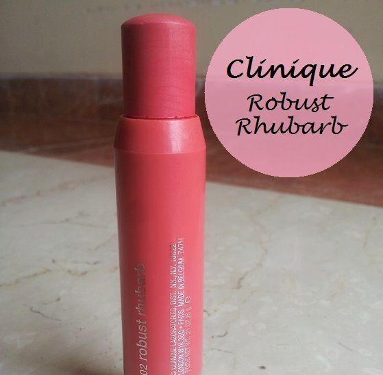 Clinique Chubby Stick Cheek Colour Balm Robust Rhubarb Review Swatches india