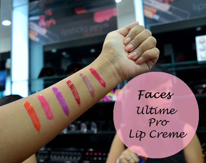 Faces Ultime Pro Lip Creme review swatches
