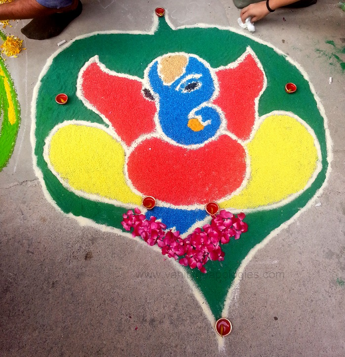 best ganesh rangoli design for diwali