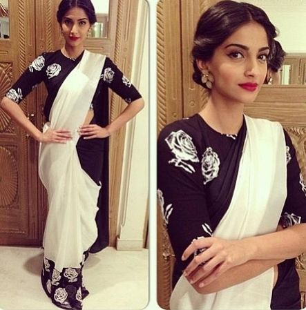 Image result for quarter sleeves saree blouse classy