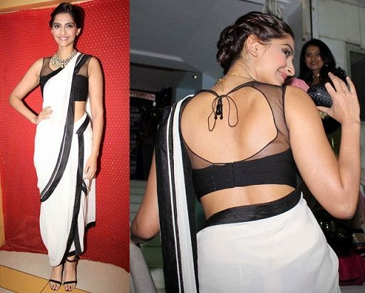 best blouse neck designs sheer back cut