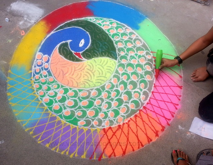 14 best rangoli designs for diwali peacocks ganesh flowers social