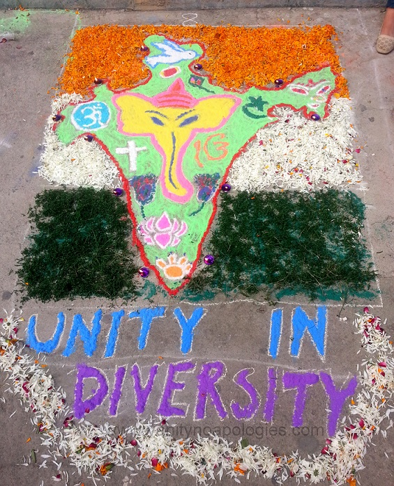 rangoli design with social causes