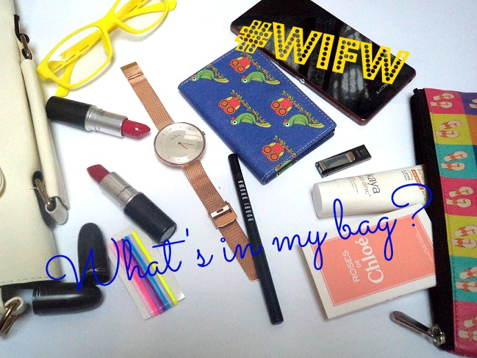 whats in my bag fashion week edition