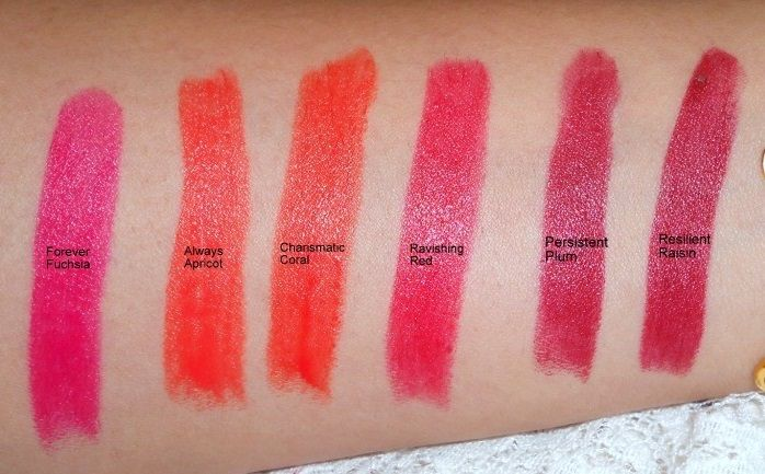 LOreal Infallible Le Rouge Lipsticks Reviews Swatches all shades