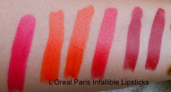 LOreal Infallible Le Rouge Lipsticks Reviews Swatches price