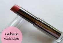 Lakme Absolute Gloss Addict Lipstick Nude Glow Review Swatches blog