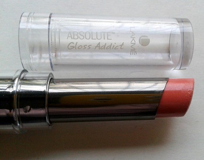 Lakme Absolute Gloss Addict Lipstick Nude Glow Reviews